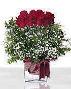 Sinop çiçekçiler  11 adet gül mika yada cam - anneler günü seçimi -