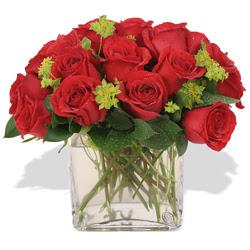 Sinop çiçek siparişi sitesi  10 adet kirmizi gül ve cam yada mika vazo