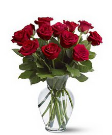 Sinop ucuz çiçek gönder  cam yada mika vazoda 10 kirmizi gül