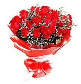 Sinop İnternetten çiçek siparişi  12 adet kırmızı güllerden görsel buket