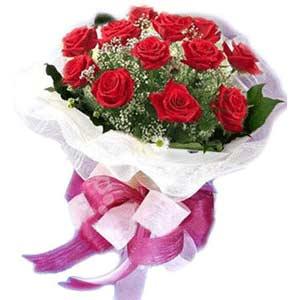Sinop internetten çiçek satışı  11 adet kırmızı güllerden buket modeli