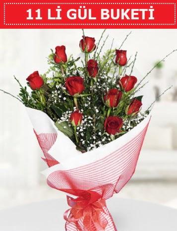 11 adet kırmızı gül buketi Aşk budur  Sinop ucuz çiçek gönder