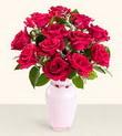 Sinop çiçek siparişi vermek  10 kirmizi gül cam yada mika vazo tanzim