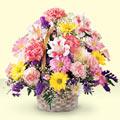 Sinop çiçek mağazası , çiçekçi adresleri  sepet içerisinde gül ve mevsim