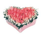 kalp içerisinde 9 adet pembe gül  Sinop internetten çiçek satışı