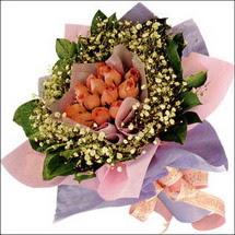 11  adet  gül ve   elyaflar   Sinop online çiçek gönderme sipariş