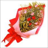 12 adet renkli  gül buketi   Sinop online çiçek gönderme sipariş