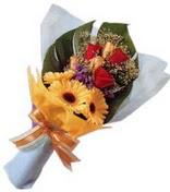 güller ve gerbera çiçekleri   Sinop ucuz çiçek gönder