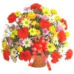 karisik renkli çiçek sepet   Sinop ucuz çiçek gönder