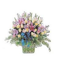 sepette kazablanka ve güller   Sinop çiçekçi mağazası