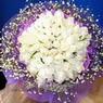 71 adet beyaz gül buketi   Sinop çiçekçiler