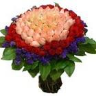 71 adet renkli gül buketi   Sinop internetten çiçek siparişi
