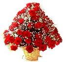 41 adet kirmizi gül sepette   Sinop çiçekçiler