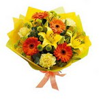 Sinop çiçekçiler  orta boy  buket demetlik - karisik buket anneler günü  için -