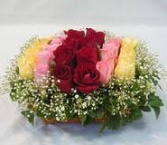15 adet reprenkli gül sepeti   Sinop hediye çiçek yolla