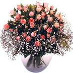 büyük cam fanusta güller   Sinop hediye çiçek yolla