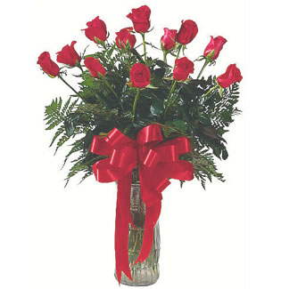12 adet gül cam içerisinde  Sinop çiçek servisi , çiçekçi adresleri