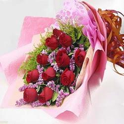 11 adet kirmizi gül ve kir çiçekleri  Sinop cicekciler , cicek siparisi