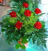 6 adet kirmizi gül buketi   Sinop hediye sevgilime hediye çiçek