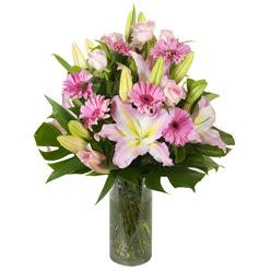 vazo içerisinde karisik mevsim çiçekleri  Sinop 14 şubat sevgililer günü çiçek