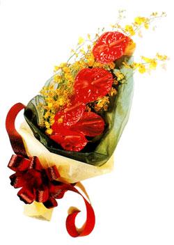 özel 5 adet antorium buketi   Sinop ucuz çiçek gönder