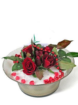 Sinop anneler günü çiçek yolla  EN ÇOK Sevenlere 7 adet kirmizi gül mika yada cam tanzim
