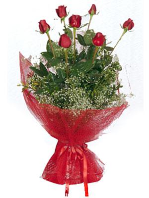 Sinop çiçek yolla , çiçek gönder , çiçekçi   7 adet gülden buket görsel sik sadelik