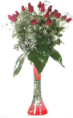 Sinop çiçek mağazası , çiçekçi adresleri  19 ADET GÜL VE FIL CAM AYAGI