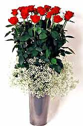 Sinop çiçek online çiçek siparişi  9 adet kirmizi gül cam yada mika vazoda