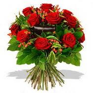 9 adet kirmizi gül ve kir çiçekleri  Sinop cicekciler , cicek siparisi