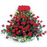 Sinop çiçek gönderme sitemiz güvenlidir  41 adet kirmizi gülden sepet tanzimi