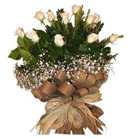 Sinop çiçek siparişi sitesi  9 adet beyaz gül buketi