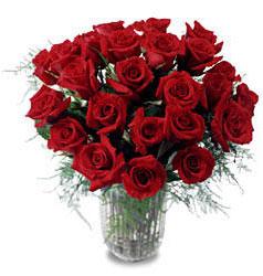 Sinop ucuz çiçek gönder  11 adet kirmizi gül cam yada mika vazo içerisinde