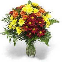 Sinop cicek , cicekci  Karisik çiçeklerden mevsim vazosu