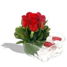 Mika kalp içerisinde 9 adet kirmizi gül  Sinop çiçek yolla , çiçek gönder , çiçekçi