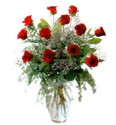 Vazo içerisinde 11 kirmizi gül  Sinop anneler günü çiçek yolla