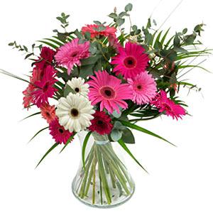 15 adet gerbera ve vazo çiçek tanzimi  Sinop hediye sevgilime hediye çiçek