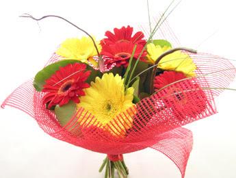9 adet gerbera çiçeklerinden buket  Sinop internetten çiçek satışı