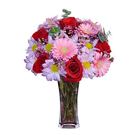 Görsel hediye karisik cam mevsim demeti  Sinop online çiçek gönderme sipariş