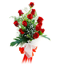 11 adet kirmizi güllerden görsel sölen buket  Sinop anneler günü çiçek yolla