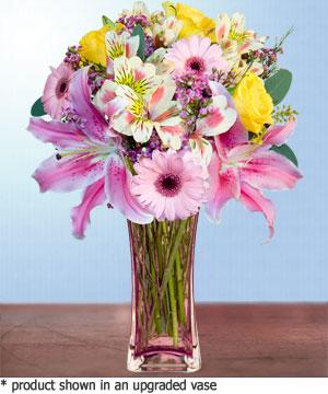 Anneme hediye karisik cam mevsim demeti  Sinop 14 şubat sevgililer günü çiçek