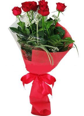 7 adet kirmizi gül buketi  Sinop çiçek satışı