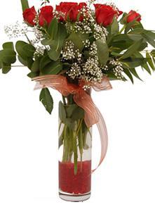 Sinop çiçek mağazası , çiçekçi adresleri  11 adet kirmizi gül vazo çiçegi