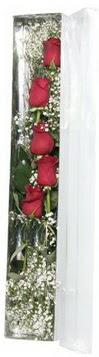 Sinop cicek , cicekci   5 adet gülden kutu güller