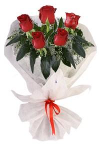 5 adet kirmizi gül buketi  Sinop uluslararası çiçek gönderme