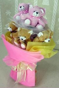 8 adet ayiciktan buket  Sinop çiçek online çiçek siparişi