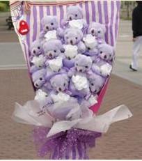 11 adet pelus ayicik buketi  Sinop ucuz çiçek gönder