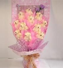 11 adet pelus ayicik buketi  Sinop hediye çiçek yolla