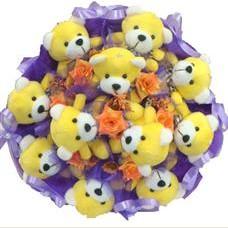 11 adet pelus ayicik buketi  Sinop İnternetten çiçek siparişi