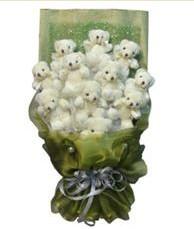 11 adet pelus ayicik buketi  Sinop hediye sevgilime hediye çiçek
